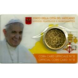 Ciudad del Vaticano. 2017. Coincard 50 Céntimos (SC) Nº 8