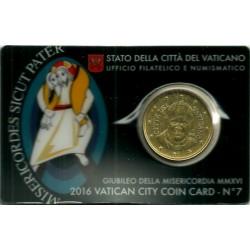 Ciudad del Vaticano. 2016. Coincard 50 Céntimos (SC) Nº 7