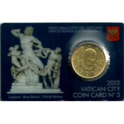Ciudad del Vaticano. 2012. Coincard 50 Céntimos (SC) Nº 3