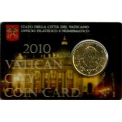 Ciudad del Vaticano. 2010. Coincard 50 Céntimos (SC) Nº 1