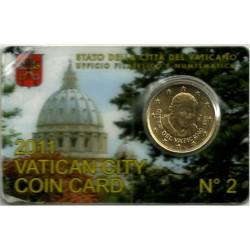 Ciudad del Vaticano. 2011. Coincard 50 Céntimos (SC) Nº 2