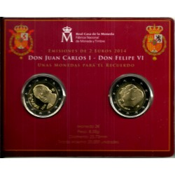 España. 2014. Coincard 2 + 2 Euro (SC) Don Juan Carlos I - Don Felipe VI