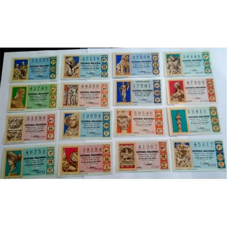 Loteria Nacional. 1967. Año Completo (36 Décimos). Escultura Española