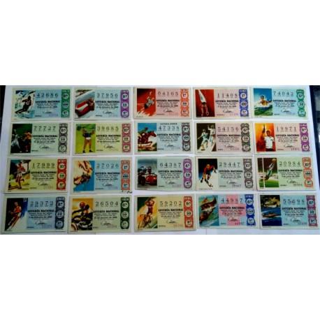 Loteria Nacional. 1968. Año Completo (36 Décimos). Deportes