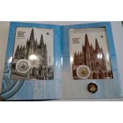 España. 2012. 2 Euro + Hojitas con Sellos (SC) Cartera FNMT Catedral Burgos
