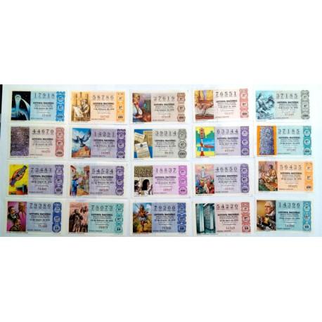 Loteria Nacional. 1976. Año Completo (50 Décimos). Sistemas de Comunicación
