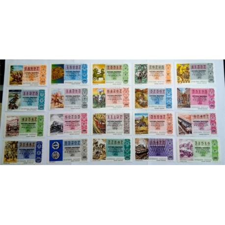 Loteria Nacional. 1979. Año Completo (50 Décimos). Sistemas de Transportes