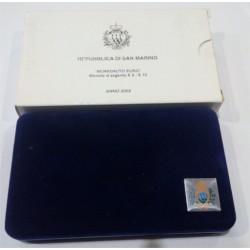 San Marino. 2002. 5 + 10 Euro (Proof) (Plata)