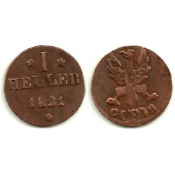 (301) Estados Alemanes (Frankfurt). 1821. 1 Heller (MBC-)