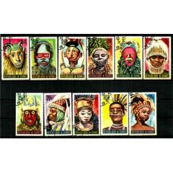 (361 a 371) República de Guinea. 1965. Serie Completa. Máscaras (Usado)