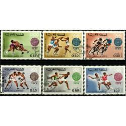 (210 a 215) Marruecos. 1968. Serie Completa. Juegos Olímpicos 1968 (Usado)