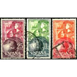 (1595 al 1597) 1964. Serie Completa. Dia mundial del Sello (Usado)