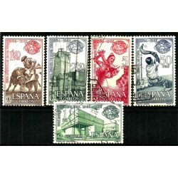 (1590 al 1594) 1964. Serie Completa. Feria Mundial de Nueva York (Usado)