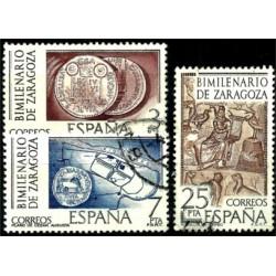 (2319 a 2321) 1976. Serie Completa. Bimilenario de Zaragoza (Usado)
