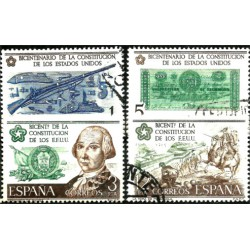 (2322 a 2325) 1976. Serie Completa. Bicentenario USA (Usado)