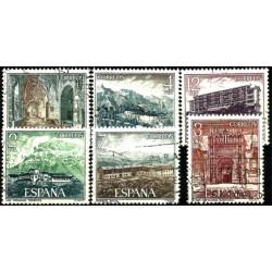 (2334 a 2339) 1976. Serie Completa. Paradores Nacionales (Usado)
