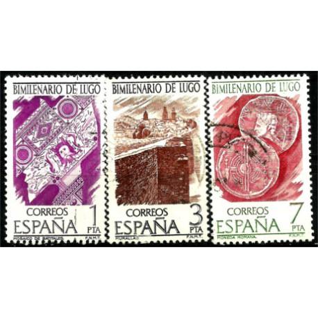 (2356 a 2358) 1976. Serie Completa. Bimilenario de Lugo (Usado)