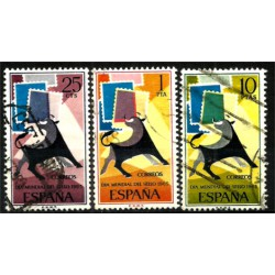 (1667 a 1669) 1965. Serie Completa. Dia mundial del Sello (Usado)