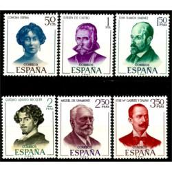 (1990 a 1995) 1970. Serie Completa. Literatos Españoles (Nuevo)