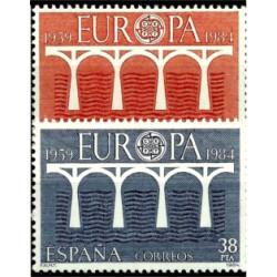 (2756-2757) 1984. Serie Completa. Europa-CEPT (Nuevo)