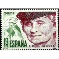 (2574) 1980. 19 Pesetas. Centenario de Helen Keller (Nuevo)