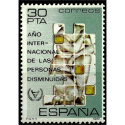 (2612) 1981. 30 Pesetas. Año Int. Personas Disminuidas (Nuevo)