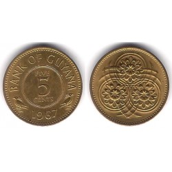 (32) Guyana. 1967. 5 Cents (EBC)