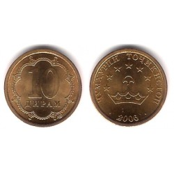 (3.2) Tayikistán. 2006. 10 Drams (SC)
