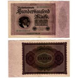 (83a) Imperio Alemán (Weimar). 1923. 100000 Mark (EBC)