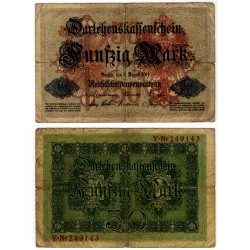 (49b) Imperio Alemán. 1914. 50 Mark (RC) Roturas
