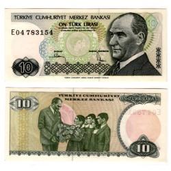 (193) Turquía. 1984-02. 10 Lira (SC)