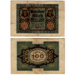 (69) Imperio Alemán (Weimar). 1920. 100 Mark (BC+)