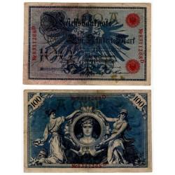 (33a) Imperio Alemán. 1908. 100 Mark (BC) Manchitas