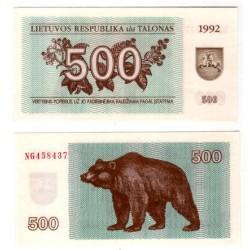 (44) Lituania. 1992. 500 Talonas (SC)
