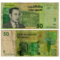 (69a) Marruecos. 2002. 50 Dirham (RC+)