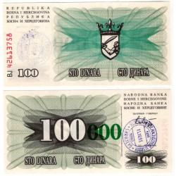 (56e) Bosnia-Hercegovina. 1993. 100000 Dinara (SC) Sarajevo