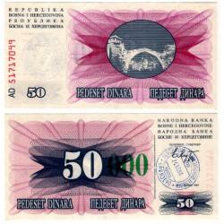 (55g) Bosnia-Hercegovina. 1993. 50000 Dinara (SC) Sarajevo
