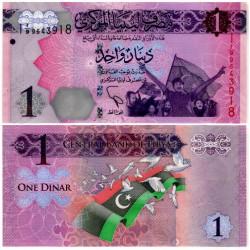 (76) Libia. 2013. 1 Dinar (SC)