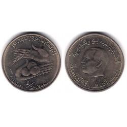 (303) República Tunecina. 1983. ½ Dinar (EBC)