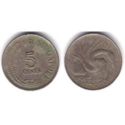 (2) Singapur. 1971. 5 Cents (MBC)