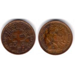 (1a) África Ecuatorial Francesa. 1943. 50 Ctmes (MBC+)