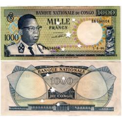 (8a) Congo. 1964. 1000 Francs (SC) Taladrado