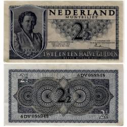 (73) Países Bajos. 1949. 2 ½ Gulden (MBC)