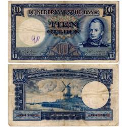 (83) Países Bajos. 1949. 10 Gulden (BC+) Escrito