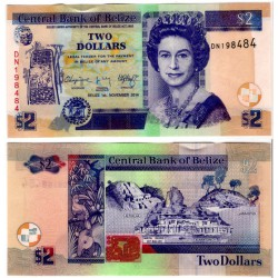 (66e) Belice. 2014. 2 Dollars (SC)