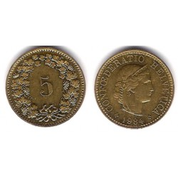 (26c) Suiza. 1984. 5 Rappen (EBC)