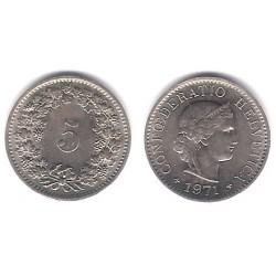 (26) Suiza. 1971. 5 Rappen (EBC)