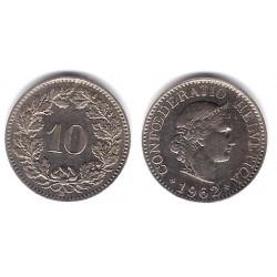 (27) Suiza. 1962. 10 Rappen (EBC)