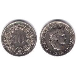 (27) Suiza. 1974. 10 Rappen (EBC)