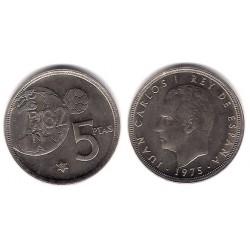 España. 1975*(80). 5 Pesetas (SC) Error Mundial